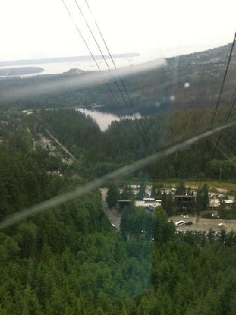 Grouse Mountain Skyride: view from skytram
