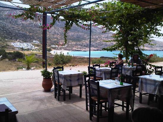 Lefkos, Grecia: die Taverne im Haus mit Traumlage