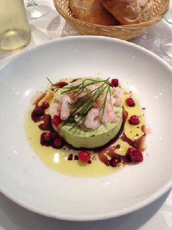 La Petite Sirene de Copenhague : 前菜。絶妙な組み合わせ。