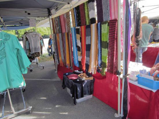 All sorts of clothes at the Davies Park Market