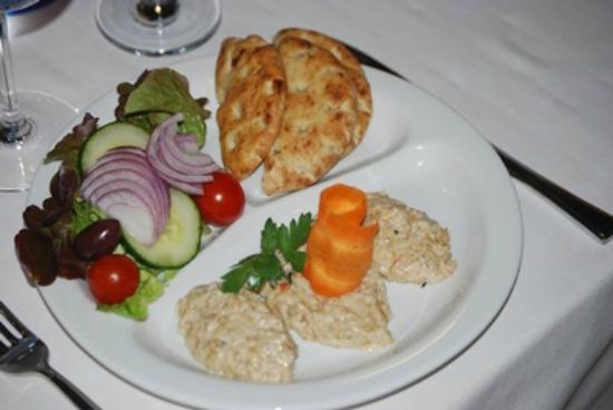 Sebastyan's Restaurant : Aubergine salad with pitta