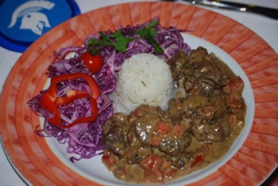 Sebastyan's Restaurant : Lamb Santorini with red cabbage and rice