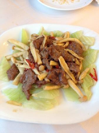 Xi'an Fanzhuang: Beef with mushroom and aspargus