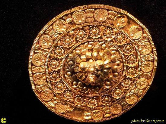 Bible Lands Museum : Stud decorated from 6th century BCE