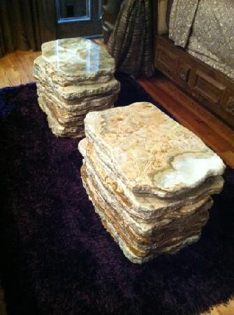 The Campbell Hotel: marble stacked coffee table