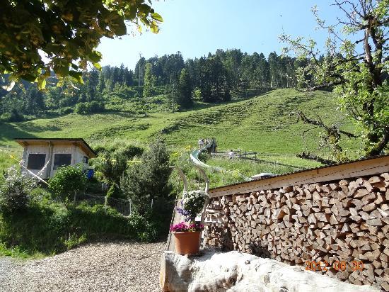 Bergrestaurant Chessel: view uphill