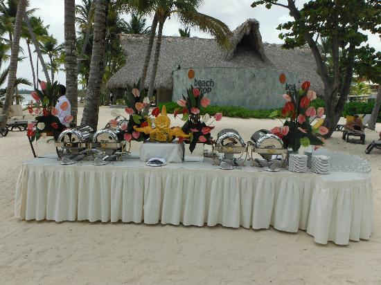 Barcelo Bavaro Palace This Was A Set Up For Beach Wedding Reception