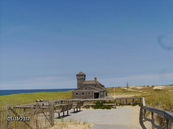 Old Harbor Lifesaving Station: Beautiful view of Old Harbor Station June 2012