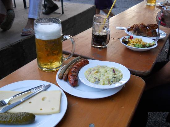 Hotel Kriemhild: German Beergarten Food - Beer