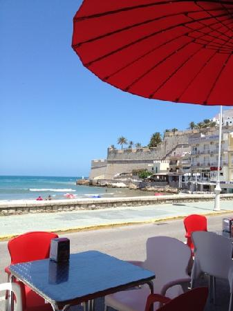 Atipic Peñiscola: What a view from the cafe