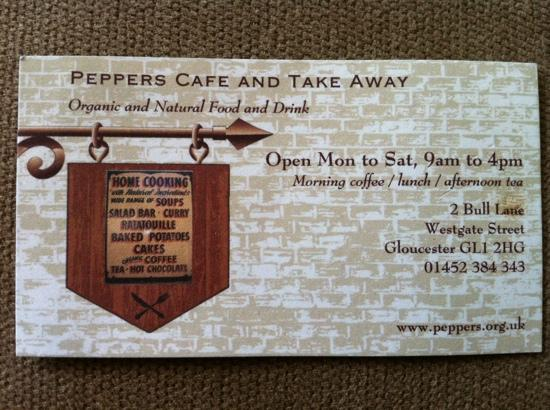Peppers: Business card