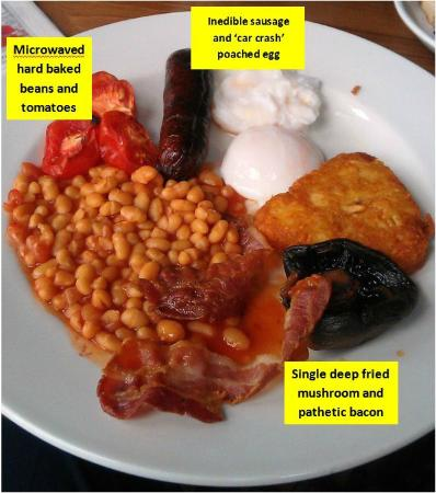 Middlesbrough, UK: The worst breakfast I have ever been served in a Best Western hotel