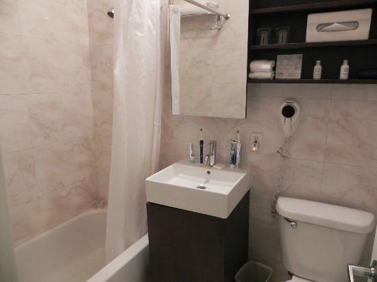 The Marcel at Gramercy: The bathroom in our new room