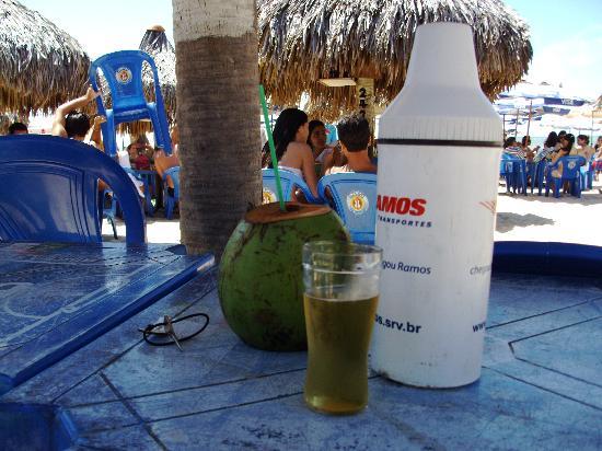 Vira Verao : Cardápio de peixe e frutos do mar. E a indipensável água de coco.
