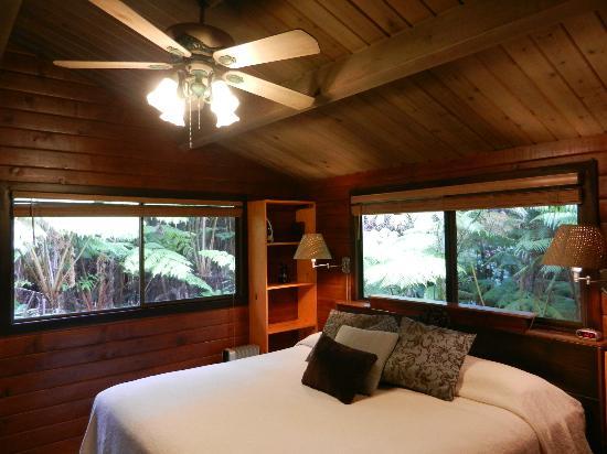 Chalet Kilauea: Interior y vista al exterior de la habitación