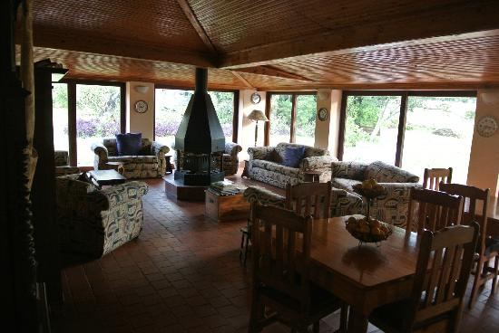 Ardmore Guest Farm: main sitting room, with great fireplace!