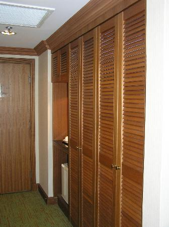 The Centrepoint Hotel: Door and large closet space
