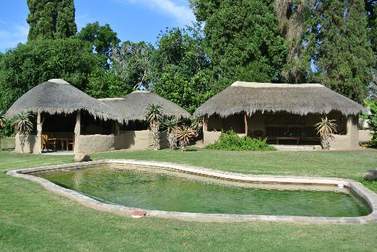 Chrislin African Lodge: Pool and barbecue area