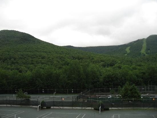 The Village Of Loon Mountain, a VRI resort: porch view of Loon Gondola's
