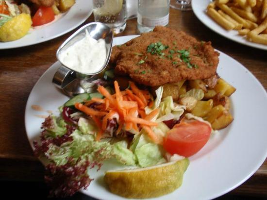 September: Wienerschnitzel, Roasted Potatoes, Salad