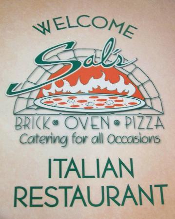 Sal's Brick Oven Pizza : the menu