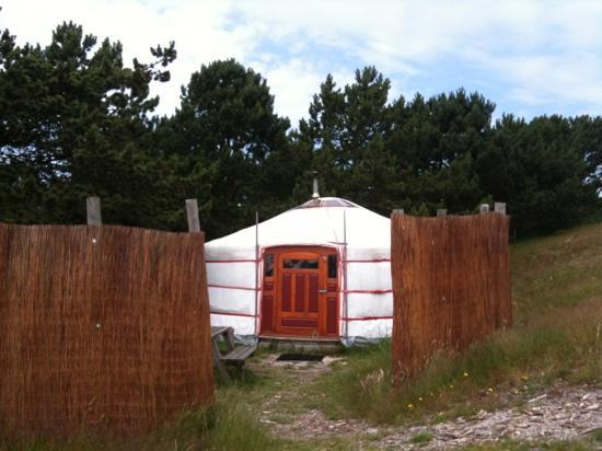 Texel Yurts: exterieur yurt