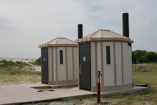 Assateague Island National Seashore C&ground Walk in tent site #66-85 bathrooms & Walk in tent site #66-85 bathrooms - Picture of Assateague Island ...