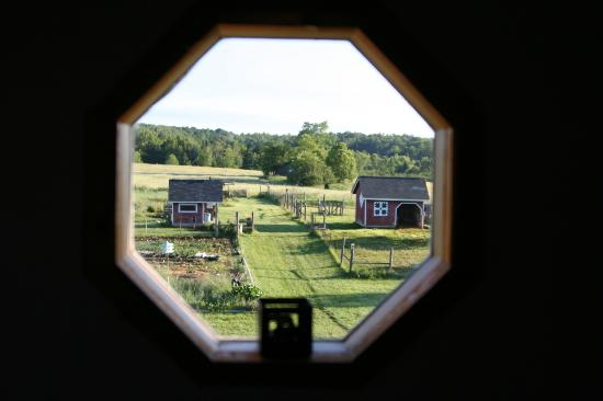 Sandtown Farmhouse Bed and Breakfast: view from King suite bathroom