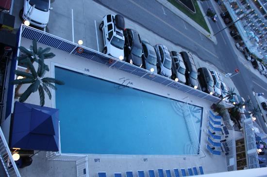 Armada By-the-Sea: View of the pool and parking from our room