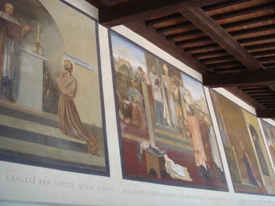 The corridor of the stigmata foto van la verna santuario