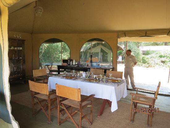 Lemala Manyara: Dining tent