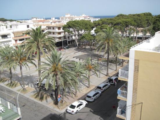 Hotel Bella Mar: Blick von Zimmer 503 Richtung Plaza de los Pinos