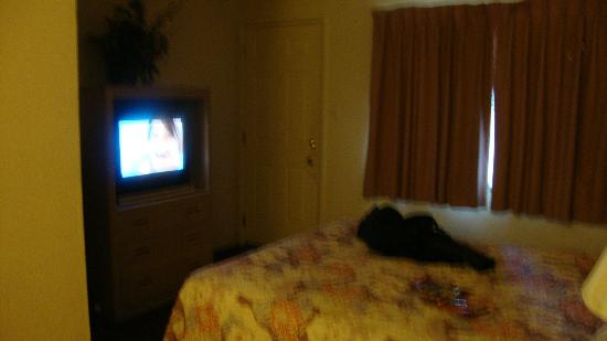 Townhouse Motel: TV Bed Door