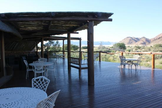 Hoodia Desert Lodge: Lodge Decked Area