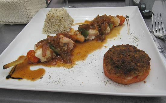 ArteModa Cinecitta: seafood brochette