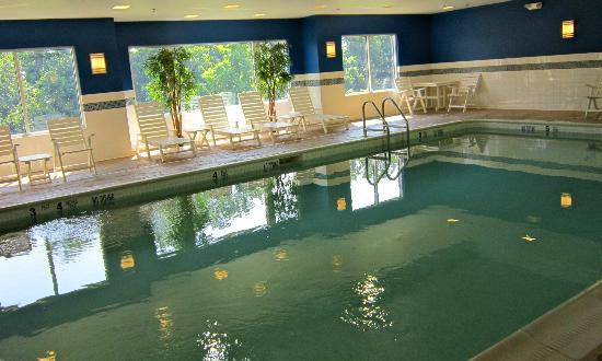 Hampton Inn & Suites Yonkers: Indoor Pool, not quite blue??