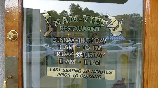 Nam-Viet Pho 79: Nam Viet is across from the Cleveland Park Red Line metro.