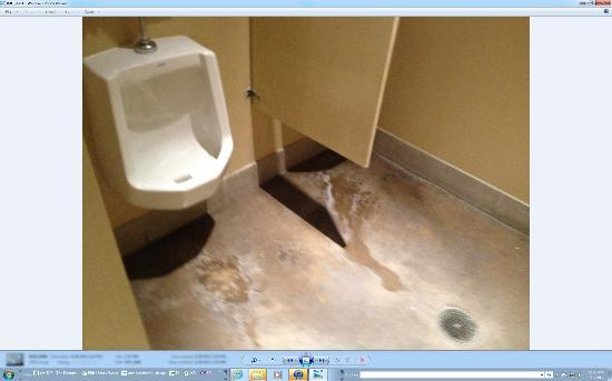 Spa Sydell Midtown at Brookwood Place : urine all over the floors