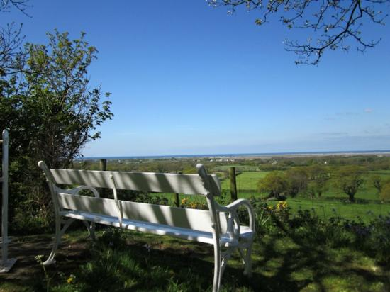 Plas Dinas Country House: View from The Mount towards Menai Straits
