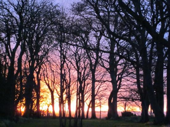 Plas Dinas Country House: We have beautiful sunsets over the Menai Straits