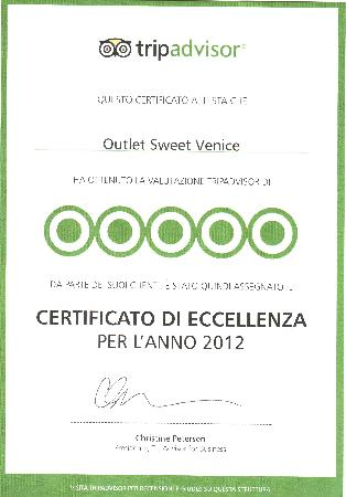 Outlet Sweet Venice: Eccellenza 2012