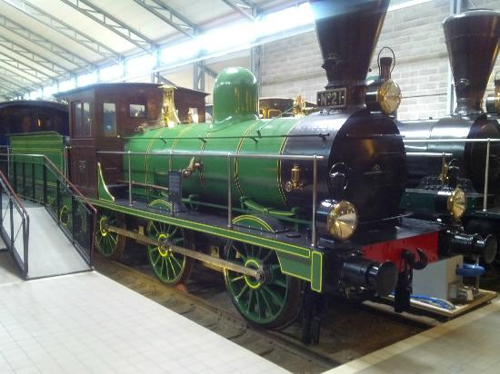 The Finnish Railway Museum: a locomotive at the museum