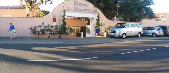 Hotel Les Mouettes : Ingang van het hotel