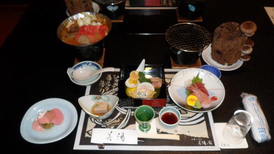 Ryokan Biyunoyado: Dinner