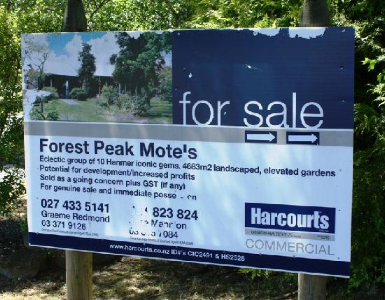 Forest Peak Motel: For sale