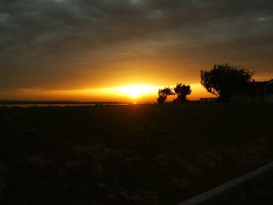Steeple Bay Holiday Park - Park Holidays UK: sunset from lodge