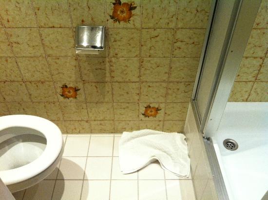 Hotel Gutsgasthof Stangl: Das Badezimmer (man konnte es vollständig auf ein Foto bekommen!)