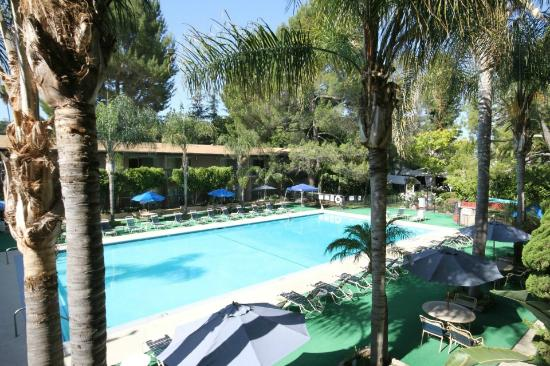 Sportsmen's Lodge Hotel: View from the balcony of a pool-view room.