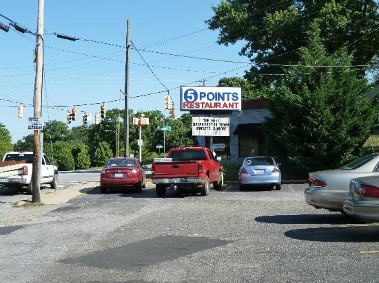Five Points: 5 Points Sign