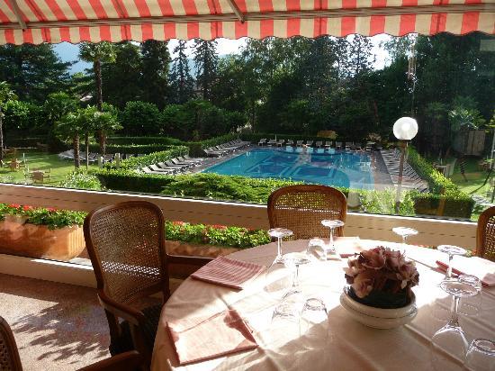Hotel Simplon: View from breakfast